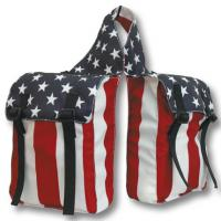 BACK SADDLEBAG WITH TWO POCKETS IN COLOURED NYLON USA