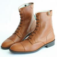 FULL GRAIN COW LEATHER BOOTS WITH ELASTIC FASTENING