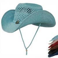 LADIES STRAW HAT, COLOURED