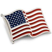 WESTERN BUCKLE WITH U.S. FLAG