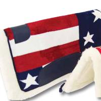 WESTERN SADDLE PAD U.S.A. FLAG PRINTED