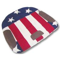 WESTERN BARREL SADDLE PAD, U.S.A. FLAG PRINTED FABRIC