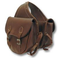 REAR SADDLEBAG RIDING SMOOTH LEATHER OF FIRST QUALITY