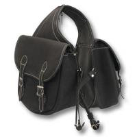 REAR SADDLEBAG RIDING IN SUEDE LEATHER