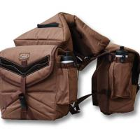 SADDLEBAG WITH THREE POCKETS, PADDED MODEL GREAT