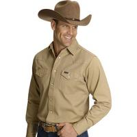MEN'S WRANGLER WESTERN WORK SHIRT IN HEAVY COTTON, from USA.