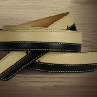 BICOLOR BELT ALESSANDRO ALBANESE ITALIAN CUFF LEATHER