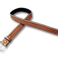 POOL'S WESTERN LEATHER BELT model SPOTS BASKET