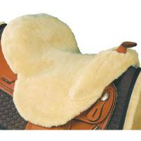 WESTERN SADDLE SEAT SAVER MATTES IN PURE WOOL WITH CUTOUT FOR POMMEL