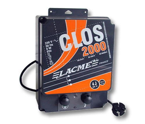 clos 2000 220 volt 4 joule current lacme fence