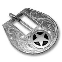SILVER BUCKLE FOR HEADSTALL DECORATION STAR