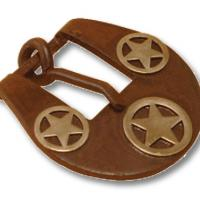 BURNISHED BUCKLE FOR HEADSTALL DECORATION STAR