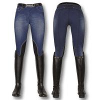 RIDING STRETCH DENIM LADIES JEANS KNEE PATCHES