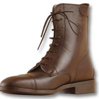 FULL GRAIN COW LEATHER BOOTS WITH BACK ZIPPER