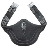 EQUESTRO LEATHER BELLY PROTECTOR GIRTH WITH ELASTIC SUPPORTS