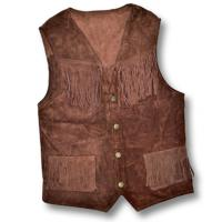 GILET SUEDE WITH FRINGES