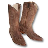 SANCHO BOOTS WESTERN NUBUK BOOTS WITH DECORATION
