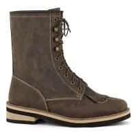 WESTERN ANKLE BOOTS WITH FRINGES AND LACES MAREMMA TYPE