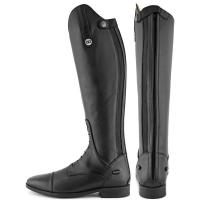 DERBY RIDING BOOTS IN BLACK LEATHER WITH ZIP AND LACES
