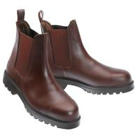 LEATHER SAFETY ANKLE BOOTS WITH STEEL IRON HULL