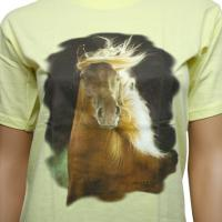 BOY T-SHIRTS YELLOW WITH HORSE