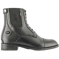 COMPETITION RIDING BOOTS IN BLACK LEATHER WITH ZIP AND LACES TRIPLICE MODEL