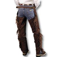 CHAPS WESTERN SUEDE UNISEX WITH FRINGES