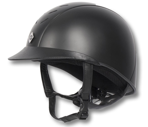 Black Charles Owen Ayrbrush Riding Helmet