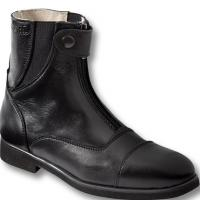 OXFORD TECHNICAL ANKLE BOOTS LEATHER WITH FRONT ZIP