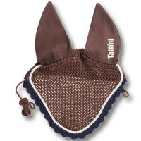 EAR NET BONNET TATTINI BICOLOR COTTON WITH EMBROIDERY