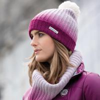 HAT AND SNOOD SET OMBRE HORSEWARE FOR WOMEN