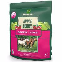 NUTRITIONAL TREATS FOR HORSES STANDLEE APPLE/BERRY COOKIE CUBES 5 Lb