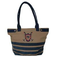 NAUTICAL SPORTS HORSEWARE CANVAS TOTE BAG