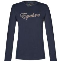 LADIES EQUILINE TURTLENECK LOTUS TSHIRT WITH LONG SLEEVE