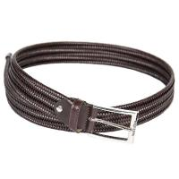 UNISEX LOGAN EQUILINE BELT IN ELASTIC WOVEN LEATHER
