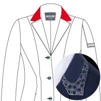 CUSTOMIZATION ANIMO COMPETITION JACKET, WITH TWO-TONE SWAROVSKI ON COLLAR