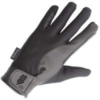 HORSE RIDING GLOVES IN ELASTIC COTTON AND LEATHER