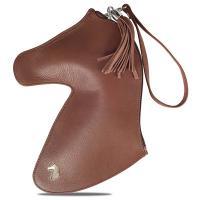 DESORI WOMAN'S GENUINE LEATHER HORSE-SHAPED CLUTCH BAG mod. DOH - 3826