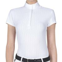 EQUILINE AMBERK WOMEN'S SHORT-SLEEVED COMPETITION POLO SHIRT