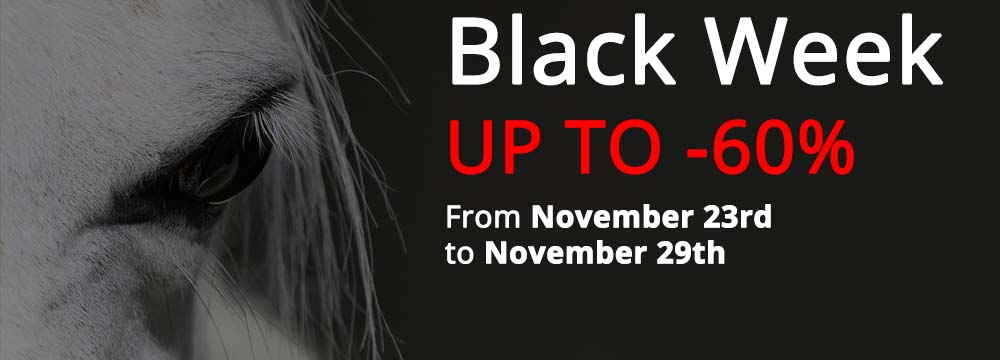 Black Week: up to -60% Discount on a large items selection!
