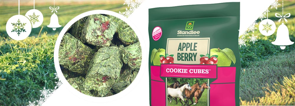 Nutritional Treats for Horses Standlee apple/berry cookie cubes