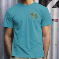 T-SHIRT MY SELLERIA MEN'S COTTON TURQUOISE